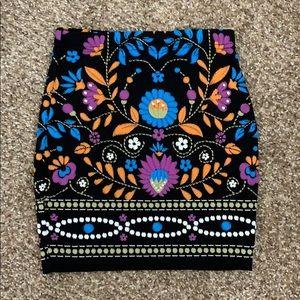 NWOT Tribal Print Bodycon Skirt